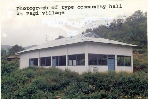 Community Hall at Pagi Village